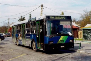 A 56-os busz már jó ideje nincs, de a későbbi BPO-756 jár még a Széll Kálmán téri vonalakon