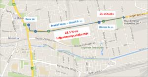 Ritkul a közlekedés a Zsolcai kapu - József Attila utca tengelyen